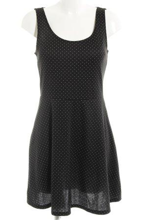 H&M Jerseykleid schwarz-weiß Punktemuster Casual-Look