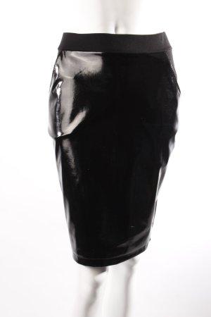 H&M Jerseyrock mit Latex schwarz
