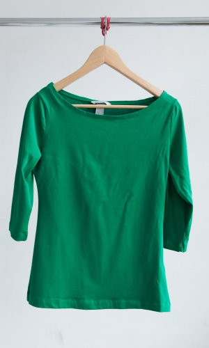 H&M Shirt forest green-green cotton