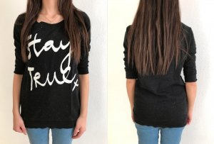 H&M Jumper black/white