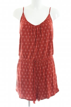 H&M Jumpsuit rot-nude Allover-Druck Casual-Look