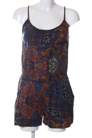 H&M Jumpsuit blau-rot abstraktes Muster Casual-Look
