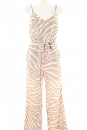 H&M Jumpsuit wollweiß-weiß Allover-Druck Casual-Look