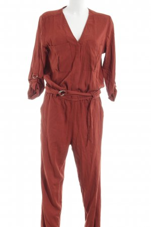H&M Jumpsuit rot-braun Elegant