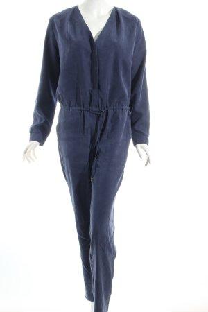 H&M Jumpsuit dunkelblau Washed-Optik