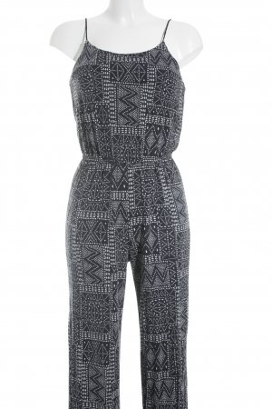H&M Jumpsuit dunkelblau-weiß Punktemuster Street-Fashion-Look