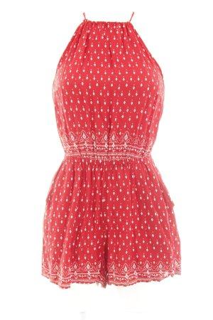 H&M Tuta rosso scuro-bianco sporco motivo etnico Stile Boho