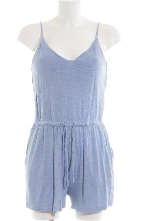 H&M Jumpsuit blau meliert Casual-Look