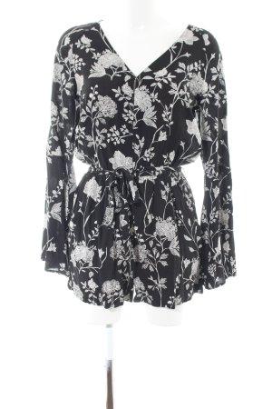 H&M Jumpsuit schwarz-weiß Allover-Druck Casual-Look