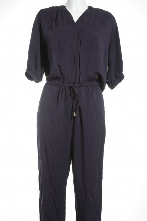 H&M Jumpsuit goldfarben-dunkelblau Business-Look