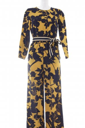 H&M Tuta giallo-oro-blu scuro motivo floreale stile stravagante