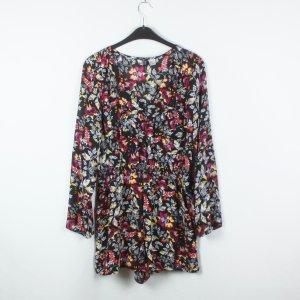 H&M Jumpsuit Gr. 40 schwarz bunt Blumenmuster (19/02/350)
