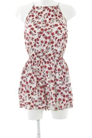 H&M Combinaison beige clair-rouge foncé motif de fleur Look de plage