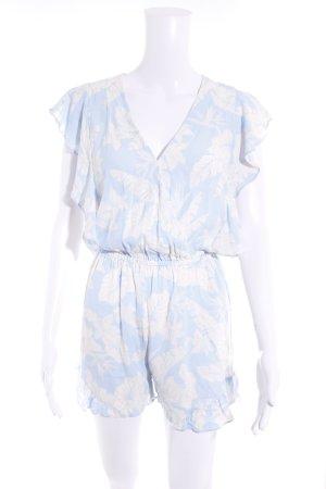 H&M Jumpsuit himmelblau-hellbeige florales Muster Casual-Look