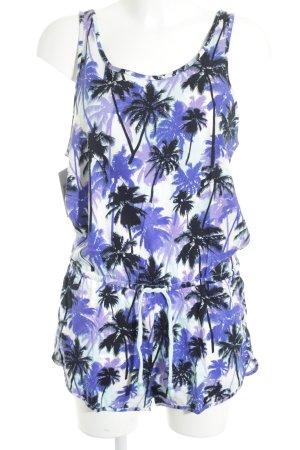 H&M Jumpsuit lila-dunkelblau Motivdruck Beach-Look