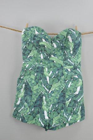 H&M Jumpsuit mit Muster grün Größe 38