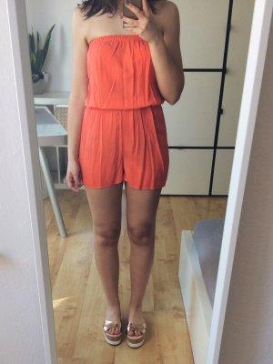 H&M Jumpsuit Playsuit Strand Bandeau kurz orange Gr. 36