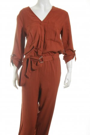 H&M Jumpsuit rostrot Street-Fashion-Look