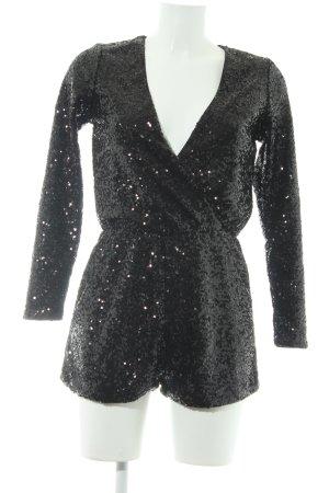 H&M Tuta nero con glitter