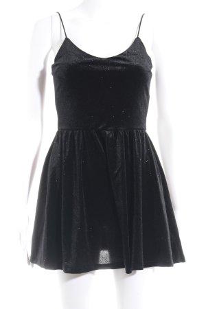 H&M Jumpsuit schwarz Glitzer-Optik