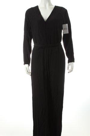 H&M Jumpsuit schwarz klassischer Stil