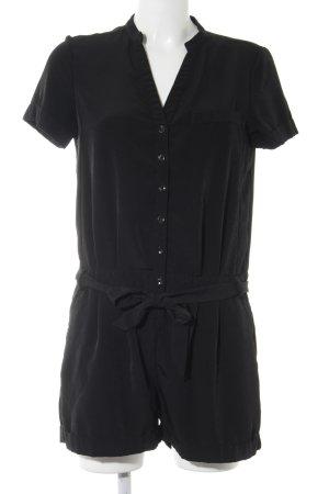 H&M Jumpsuit schwarz Plastikelemente
