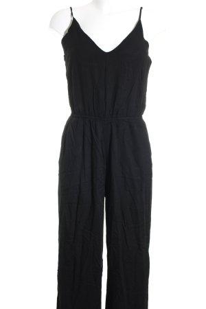 H&M Jumpsuit schwarz schlichter Stil
