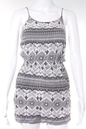 H&M Jumpsuit schwarz-weiß Beach-Look