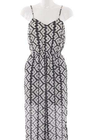 H&M Jumpsuit schwarz-weiß grafisches Muster Casual-Look