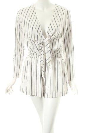 H&M Jumpsuit wollweiß-schwarz Streifenmuster schlichter Stil