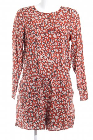 H&M Jumpsuit ziegelrot Leomuster Street-Fashion-Look