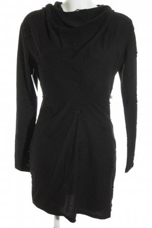 H&M Hooded Dress black gothic look