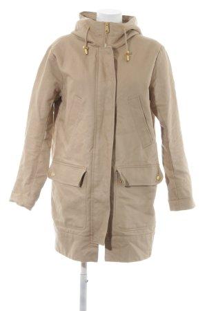 H&M Cappotto con cappuccio beige-oro stile casual