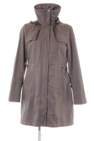 H&M Cappotto con cappuccio marrone-grigio stile casual