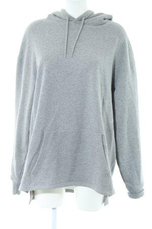 H&M Jersey con capucha gris claro moteado look casual
