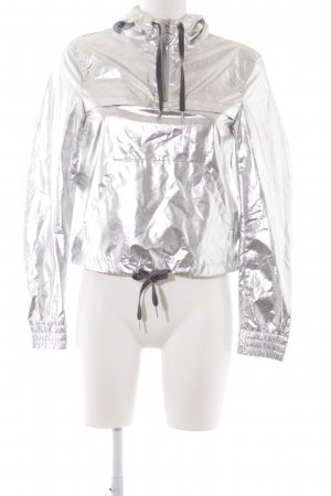 H&M Hooded Sweater silver-colored extravagant style
