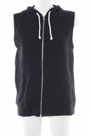 H&M Hooded Vest black casual look
