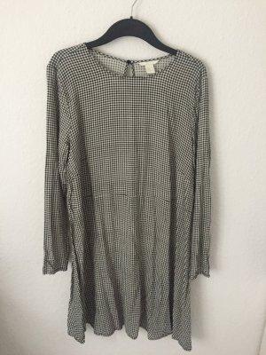 H&M kariertes Kleid Schwarz Weiß