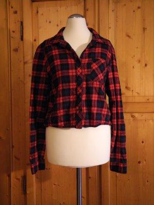 H&M Camisa de leñador negro-rojo Algodón