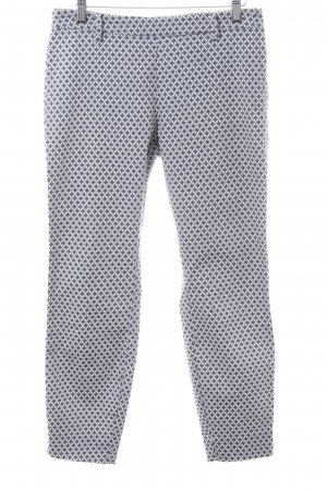 H&M Peg Top Trousers white-blue allover print casual look