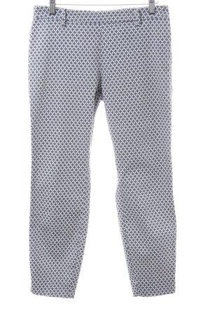 H&M Pantalón de pinza alto blanco-azul look casual