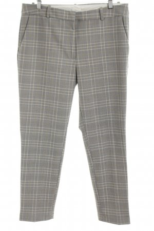 H&M Peg Top Trousers light grey check pattern business style