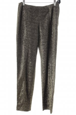 H&M Peg Top Trousers gold-colored-black flecked casual look