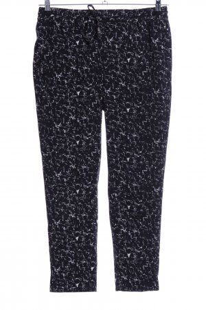 H&M Peg Top Trousers black-white abstract pattern casual look