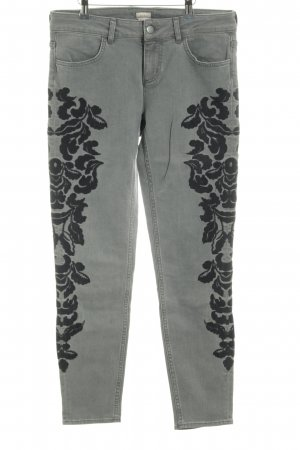 H&M Carrot Jeans grey-black embellished pattern casual look