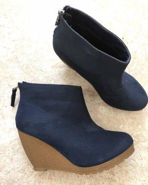 H&M Low boot bleu