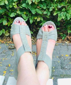 H&M Plateauzool Sandalen met Hoge Hakken zilver