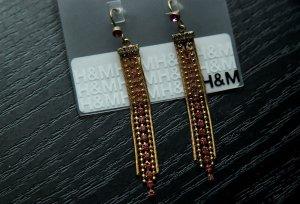 H&M Ketten-Ohrrinhe mit Steinchen