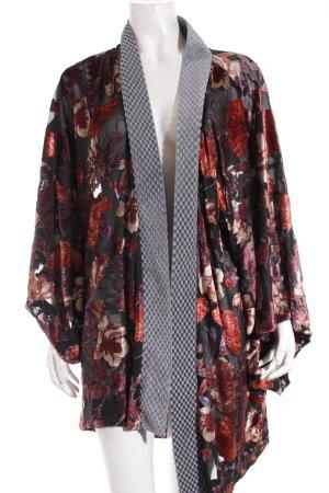 H&M Kimono Blumenmuster Samt-Optik