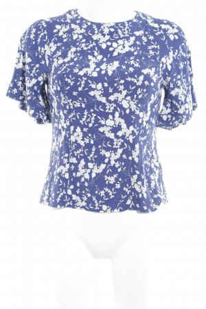 H&M Kimono Blouse blue-white flower pattern casual look